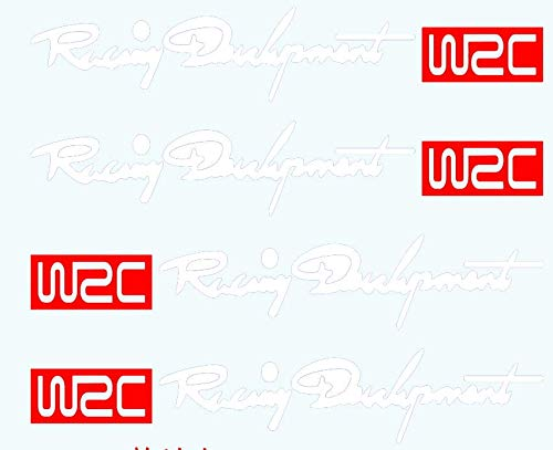 YONGYAO 4Pcs WRC Poignée Poignet Voiture Rallye Porte Poignet Modifié Voiture Autocollants Porte Poignet Poignée TRD Autocollants De Voiture-Blanc
