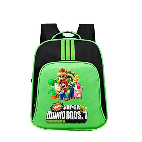 Super Mario Sports Daypack Schulrucksack Bedruckter Daypack Lässiger Rucksack Reisetasche Super Mario Kinderrucksäcke (Color : A10, Size : 32 x 14 x 40cm)