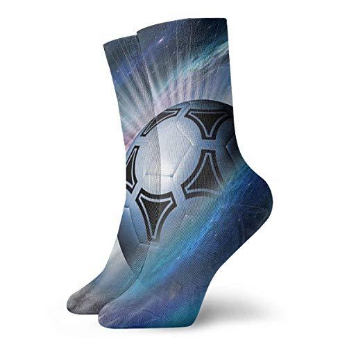 Adamitt Calcetines unisex para equipo, balón de fútbol, calcetín informal atlético, calcetines informales transpirables cómodos