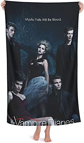 QWAS The Vampire Diaries - Toalla de playa (microfibra, 1,100 x 180 cm)