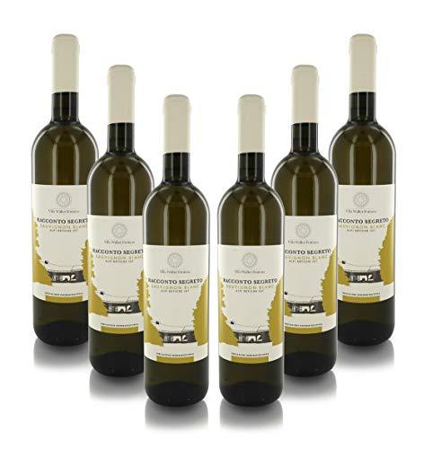 Villa Walter Fontana Vino Bianco ''Racconto Segreto'', Sauvignon Blanc Alpi Retiche IGT, Annata 2019, Cartone con 6 Bottiglie da 75 Cl L'Una