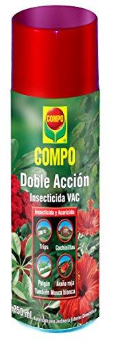 Compo Aerosol Doble Acción Insecticida y acaricida, para jardinería Exterior doméstica, 250 ml