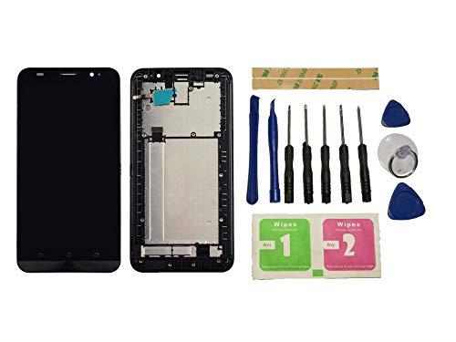 Flügel für ASUS Zenfone 2 ZE551ML Z00AD 5.5 inch Display LCD Ersatzdisplay Schwarz Touchscreen Digitizer Bildschirm Glas Komplett Einheit mit Rahmen Ersatzteile & Werkzeuge & Kleber