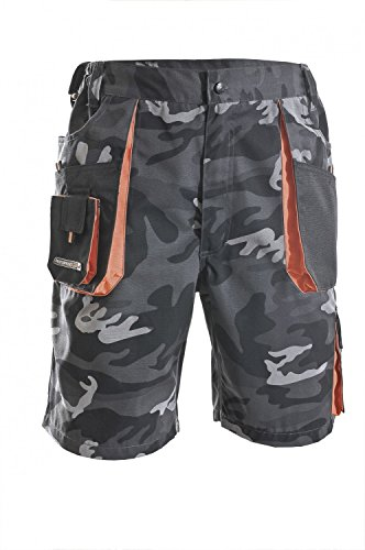 Herren Shorts camouflage/schwarz/orange Größe 60sh;6210Herren-Shorts–Camouflage/Grau/Schwarz–P, Größe 25, mehrfarbig, 3231-60-6210