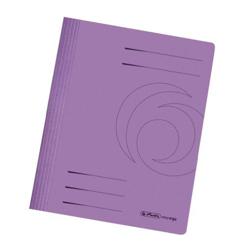 Herlitz 11036944 Schnellhefter A4 Karton gefaltet violett intensiv 10er Packung