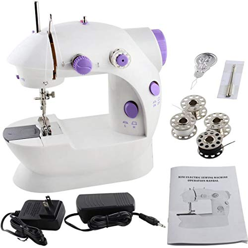 Mini Naaimachine, verstelbare 2-Speed ​​met voetpedaal Crafting Mending Machine, Handheld draagbare elektrische Naaimachines for Kids Childrens Beginners Home Sewing