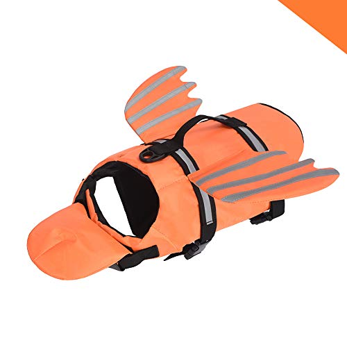 Fragralley Dog Life Jacket Unique Wings Design Pet Flotation Life Vest for Small Middle Large Size Dogs Dog Lifesaver Preserver Swimsuit with Handle for Swim Pool Beach Boating