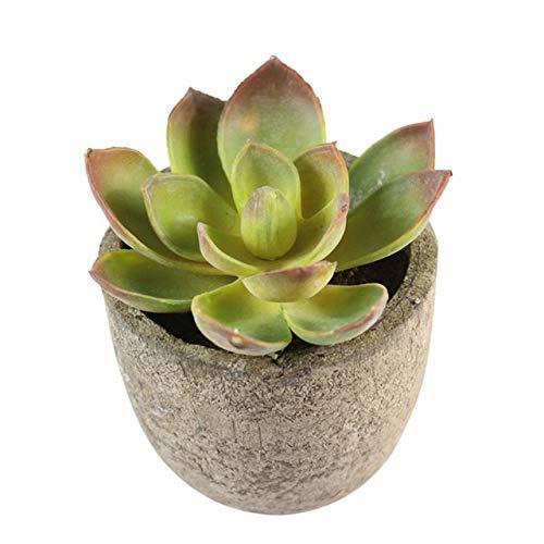 Flor Fake Flower Bonsai Bonsai Artificial Potted Artificial Suculento Plantas Falso Artificial Bonsai con Potes Plantas Decorativas De Bola Artificial Mini Plantas Falsas Flower (Color: Luhui, Tamaño: