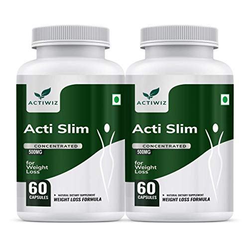 ActiWiz ActiSlim Capsule for Weight Loss – 60 Capsules (Pack of 2)