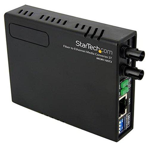 StarTech.com 10/100 Mbps Ethernet to Fiber Optic Media Converter - ST Multimode - 1310nm - 2km - Full/Half Duplex (MCM110ST2)