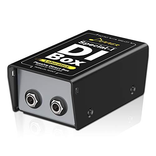 Donner Caja de Injección Directa Pasiva, DI-Box pasivo con filtro de ruido para XLR Balanceado y Desbalanceado