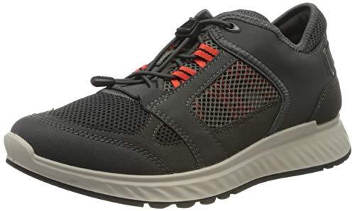 Ecco Herren EXOSTRIDEM Sneaker, Grau (Dark Shadow/Fire 58471), 41 EU