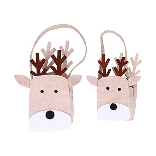 Sacchetto di caramelle in feltro di Natale 2 pezzi, sacchetti regalo a tema biscotti natalizi fai da te per bomboniere