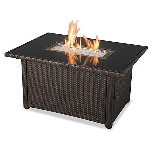 Endless Summer GAD17400SP 44'X32' Rectangular Outdoor Gas, Brown/Black Fire Table, Multi Color