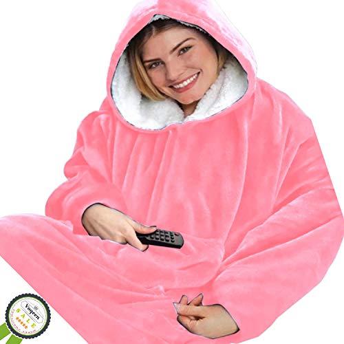 con cappuccio Felpa con cappuccio oversize per bambini con tasca in pile Sherpa per bambini e ragazzi