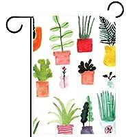ガーデンフラッグヤードフラッグウェルカムフラッグハウスフラッグアウトドアフラッグホリデーパーティー季節を問わずデコレーションカラフルなサボテンのパターン