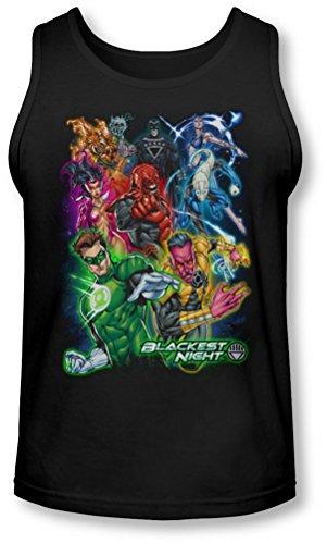 Green Lantern - - Blackest Groupe Tank-Top pour hommes, XX-Large, Black