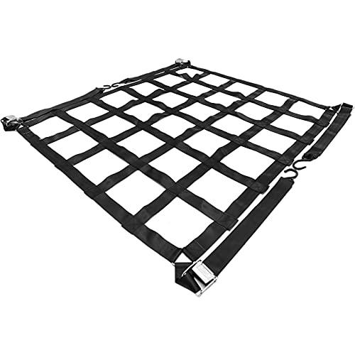 """Mophorn 82"""" x 50"""" Cargo Net with S-Hooks, Truck Bed Cargo Net Capacity 1100LBS, 6.8'x 4.1' Heavy Duty Cargo Nets for Pickup Trucks"""