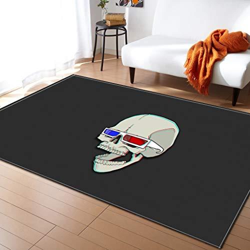 Moquettes, tapis et sous-tapis Tapis de sol créatif motif crâne salon chambre à coucher tapis tapis de sol Tapis antidérapant pour planchers Carpets & Rugs (Couleur : G, taille : 122 * 160cm)
