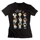Quxiangy Stray Kids Kpop Fan Women's T-Shirt Black