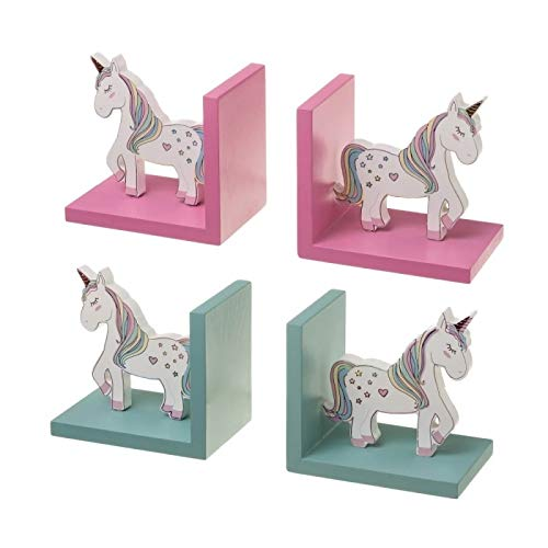 D,casa - Sujetalibros Infantil Unicornio - Rosa