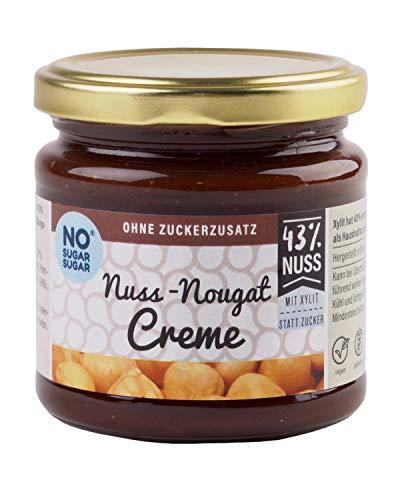 NO SUGAR SUGAR | Nuss-Nougat Creme mit Xylit (200g) ohne Zuckerzusatz