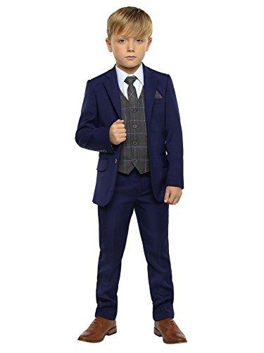 Paisley of London - Traje - para niño azul gris 5 años