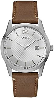 Guess Casual Watch for Men Genuine Leather Band, W1186G1
