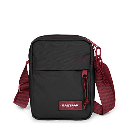 Eastpak The One Umhängetasche, 21 cm, 2.5 L, Schwarz (Blakout Strip Red)