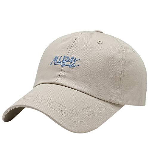 smonke Sport Wandern Reiten Radfahren Letter Prints Verstellbarer Baseball Cap Hat...