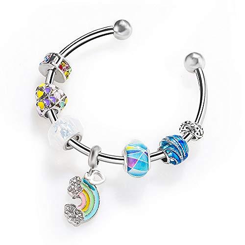 Pulsera de perlas con microperlas de belleza arcoíris