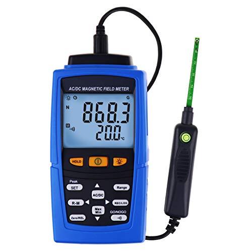 Ac DC Gaussmeter Misuratore DI Forza Del Campo Magnetico Magnete DI Teslameter Magnete Permanente N S Polarità 3000mt (30000 Gauss)