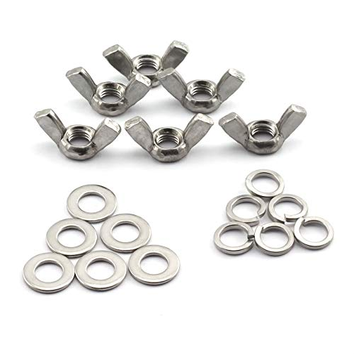 5 Pieces 3//8-16 Stainless Steel Wing Nuts 3//8-16 Butterfly Nuts 316 Marine Grade Stainless Steel