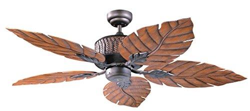Kendal Lighting AC13152-ORB Fern Leaf 52-Inch 5-Blade Ceiling Fan, Oil Rubbed Bronze Finish and Oak Fern Leaf Decorative Blades