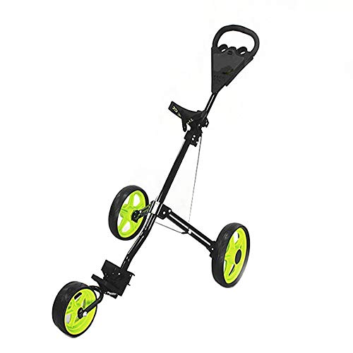 Best Prices! MYLW Golf Trolley One-Click Folding Pull/Push Golf Trolley Collapsible Cart Aluminum Al...