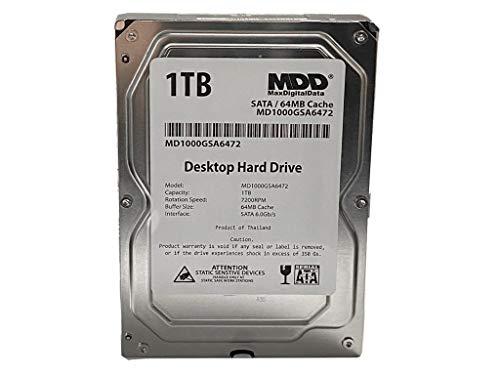 MaxDigitalData (MD1000GSA6472) 1TB 64MB Cache 7200RPM SATA 6.0Gb/s 3.5in Internal Desktop Hard Drive
