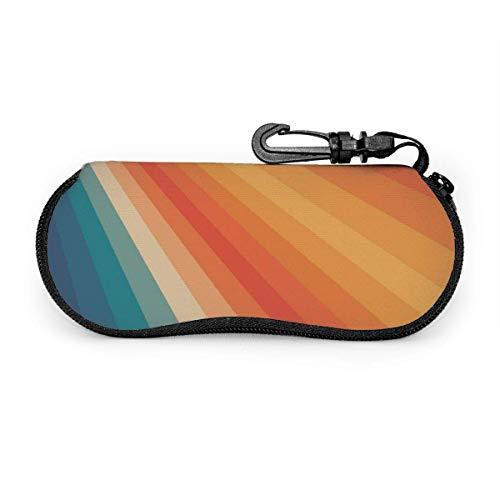 Retro 70er Jahre Sunrays Sonnenbrille Soft Case Tragbare Brillenhalter Tasche Brillenetuis mit Gürtelclip