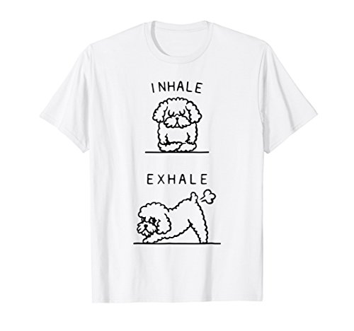 Inhale Exhale Toy Poodle Asana Pose Meditation Funny T-Shirt