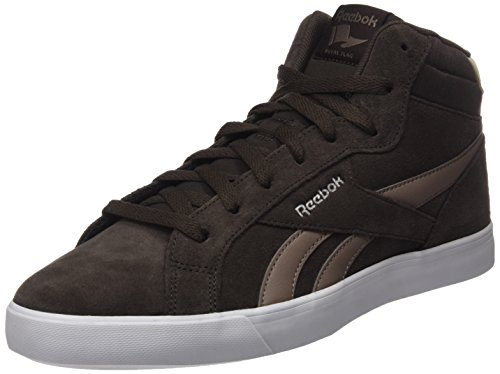 Reebok Herren Royal Complete 2MS Hohe Sneaker, Braun (Dark Brown/Stone Grey/Stucco/White/Silver), 42.5 EU