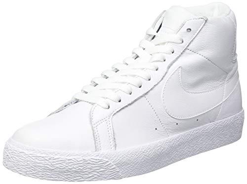 Nike SB Zoom Blazer Mid, Scarpe da Ginnastica Unisex-Adulto, White/White-White, 46 EU