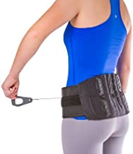 BraceAbility Lower Back & Spine Pain Brace   Adjustable Corset Support for Lumbar Strain, Arthritis, Spinal Stenosis and Herniated Discs (One Size - Fits Men & Women with 28