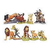 9 Pcs Lion King Movie Figures Mini Animals Toys Set Cake Topper Christmas Birthday Gift for Kids
