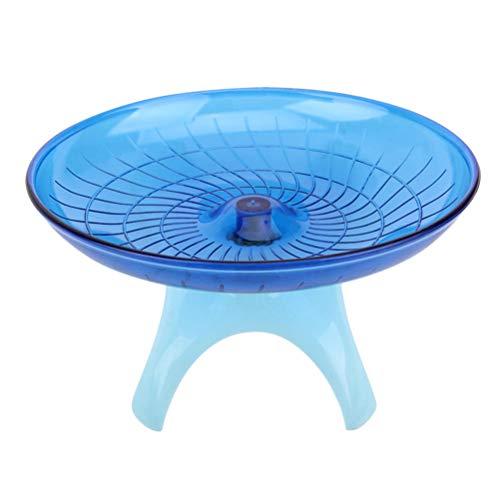 POPETPOP Rueda de ejercicio de animales pequeños, para mascotas, platillo volador, disco de plástico para hámsteres, erizos, 1 unidad (azul)
