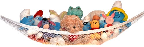 Stuffed Animal Hammock - Toy Hammock - Stuffed Animal Net to Hang on Bedroom Wall - Teddy Bear Hanging Net - Stuffie Storage by Kidde Time