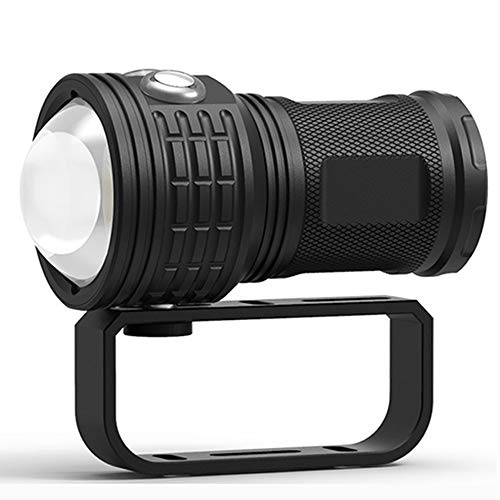 SDlamp Linterna De Buceo COB 10800 Lúmenes De 80 M, IPX8 LED Linterna Subacuática, con 7 Modos, Fotografía Profesional Luz De Llenado