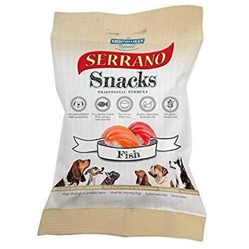 MEDITERRANEAN NATURAL Set de Snacks Serrano, Pescado, 100 g, Perro