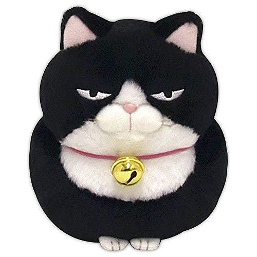 Amuse Higemanjyu Series Plush Cat Doll Black 'Anko' Standard size (5'x 4'x 5') Japan import Stuffed Animal Toy Japanese Cat Kuroneko Cute Fluffy Comfortable Doll Plush