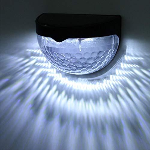 6 LED Semicircular 2Pcs Detección de luz de luz de valla solar para garaje, pasillo