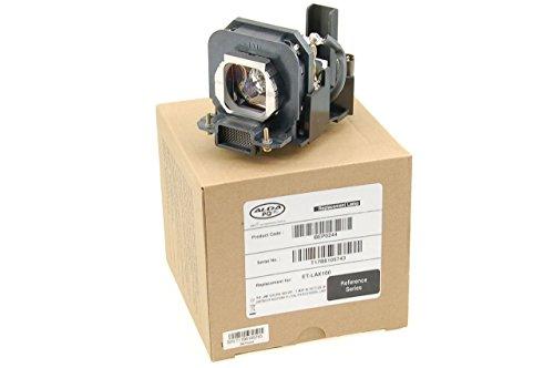 Alda PQ Referenz, Lampe ersetzt ET-LAX100 für PANASONIC PT-AX100, PT-AX100E, PT-AX100U, PT-AX200, PT-AX200E, PT-AX200U Projektoren, Beamerlampe mit Gehäuse