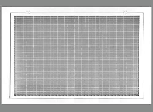 Cube Core Luftfiltergitter für 2,5 cm Filter – Aluminium – Weiß [Außenmaße: 4,4 x 4,4 cm] 22